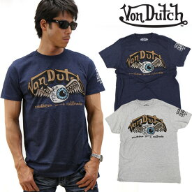 Von Dutch ボンダッチ 半袖Tシャツ Flying EYEBALL フライングアイボール sskb227