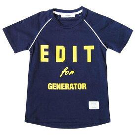 50%OFF セール ジェネレーター 子供服 generator PT-TシャツプリントTシャツ(EDIT)(ダークネイビー)100cm/110cm/120cm/130cm/140cm(日本製)