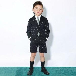 30%OFFセール ジェネレータースーツ 120  上下セット 子供服 アンカープリントスペンサージャケットスーツ上下2点セット(ジャケット/ハーフパンツ)入学式 スーツ 男の子 (052111/052206)