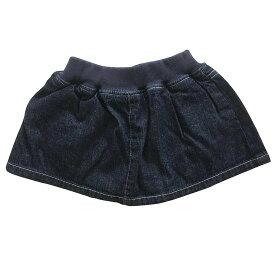 30%OFF セール PARTY TICKET パーティーチケット 子供服 やわらかデニムスカート付べビーブルマ(USEDカラー) 日本製 国産デニム
