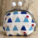 日本製 帆布 五色帆布堂 3.5寸がま口(マチ・ビーズ付)富士山 財布 レディース がま口 ガマ口 小銭入れ がま口財布 がま口…
