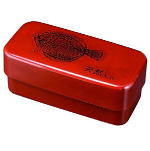 紀州のぬりもの 長角入子弁当箱 特大 根来 ひらめ(中子なし) シール付 食洗器使用OK・電子レンジ使用OK 上段:370ml 下段:500ml