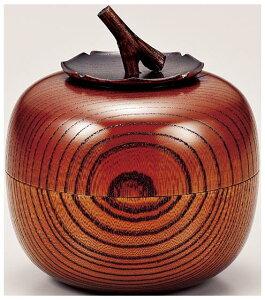 山中漆器 欅 茶入 柿(容量100g)