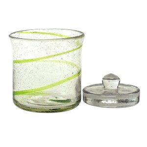 ガラス製 浅漬けポット(グリーン) <ガラス重し付&簡単レシピ付き!>