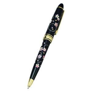 山中漆器 漆芸ボールペン かりん ブラック<ギフト プレゼント 父の日 誕生日 敬老の日 お祝い お返し 記念品 海外土産>
