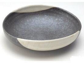 銀彩たわみ盛鉢G5-2102日本製 【信楽焼】