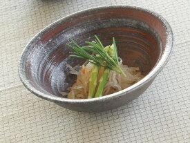 銀彩ライン 平鉢(赤)G5-1804日本製 2個セット 【信楽焼】