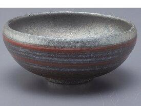 銀彩ライン 丸鉢(赤)G5-1801日本製 2個セット 【信楽焼】