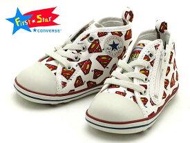 "CONVERSE BABY ALL STAR SM RZ 7C1019 ""SUPERMAN""WHITEコンバースベイビー オールスター SM RZ ""スーパーマン""【Qoots限定】【再入荷】【コレクターアイテム】【ラッピング無料】"