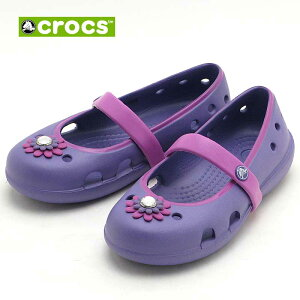 crocs Keeley petal charm flat PS 15399-5K4クロックス キーリー ペタル チャーム フラット PSblue violet/wild orchid
