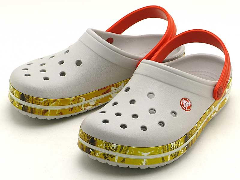 crocs crocband tropical 2.0 clog203184-101クロックス クロックバンド トロピカル 2.0 クロッグpearl white