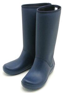 [クロックス]crocs RainFloe Tall Boot203416-410レインフロー トール ブーツ ウィメンNavy