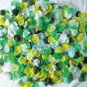 フラワーシャワー 造花 1000枚 リーフガーデンMIX! 5色 カラフル セット 緑 グリーン 水色 白 ホワイト黄色 イエロー …