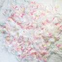 フラワーシャワー 造花 今ならフェザー入! マーメイド 3色MIX+天然の羽 約100枚 ウェディング 花びら 約1000枚 白 ピ…