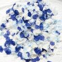 フラワーシャワー 造花 ウェディング ロイヤルブルー 5色MIX 花びら 約1000枚 青 白 水色 圧縮 結婚式 小物 飾り プレ…