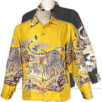 "SUN SURF太阳冲浪和睦柄L/S夏威夷衬衫衬衫ss22020""SASA TORA小竹虎""定价2万1000日元"