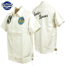 バズリクソンズ Buzz Rickson's ヘリンボンツイルワークシャツ スコードロン リユニオンミリタリーシャツ