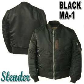 ミリタリージャケット Buzz Rickson's バズリクソンズWILLIAM GIBSON COLLECTION 『 BLACK MA-1 SLENDER』 MONO STENCIL 12666