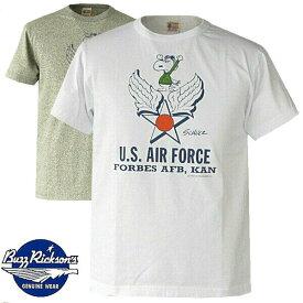 半袖Tシャツ Buzz Rickson's バズリクソンズ Tシャツ スヌーピーとその仲間達とのコラボ PEANUTS・USAF・br76842