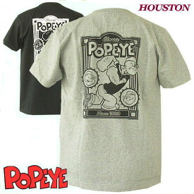 """ヒューストン ミリタリーTシャツ Houston キャラクターデザインTシャツ """"ポパイ"""""""