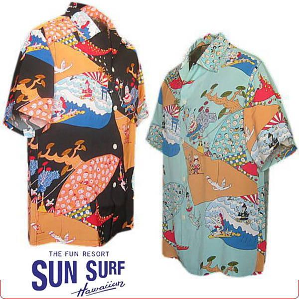 アロハシャツ SUN SURF KEONI OF HAWAII  ケオニオブハワイ 『 空想アロハサーカス団 』