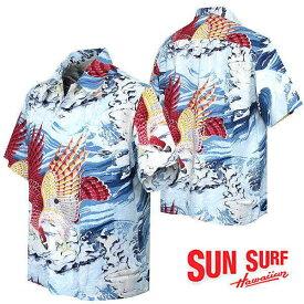 アロハシャツ サンサーフ スペシャル和柄アロハ 半袖ハワイアンシャツ ss38415
