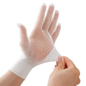 さらっと快適メッシュインナー手袋10枚入 編み手袋 炊事 下ばき 水仕事 快適 薄手 べたつき ガーデニング 左右兼用 白 指先カット可 ゴム手袋 ムレ