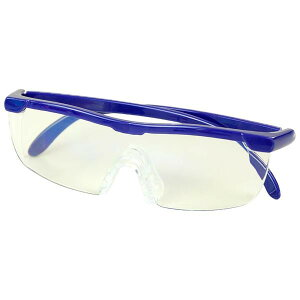 WETECH ブルーライトカット メガネ型ルーペ WJ-8069 眼鏡 拡大鏡 ブルーライト ポーチ付き 1.6倍 老眼鏡 パソコン ハンズフリー