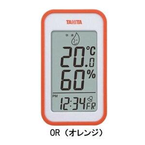 アラーム 温度計 デジタル時計 置き時計 室内 湿度計 おしゃれ 卓上 TANITA タニタ デジタル温湿度計 TT-559 OR・TT-559-OR