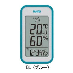 卓上 おしゃれ 温度計 室内 デジタル時計 置き時計 アラーム 湿度計 TANITA タニタ デジタル温湿度計 TT-559 BL・TT-559-BL