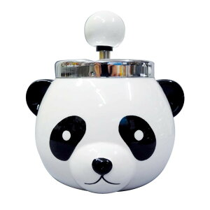 パンダ ターンアシュトレイ(灰皿) AR-1379 フタ付 スタンド かわいい 回転灰皿 卓上 動物 おしゃれ 回転式