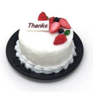 職人手作り 食品サンプル マグネット デコレーションケーキ生クリーム Thanks