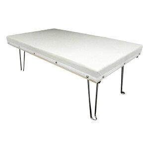 折り畳み 洗濯物 テーブル おしゃれ アイロンがけ メッシュ網 コンパクト 便利 日本製 折りたたみ脚付きアイロン台 DXスチーム中アイロン台 67×40×26cm 15209