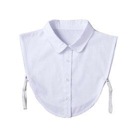 重ね着風つけ襟(白) 付け襟 シャツ 重ね着 コーディネート 丸首 かわいい 服 首元 ファッション小物 白 レイヤードスタイル オシャレ