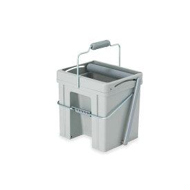 テラモト モップ絞り器S CE-766-010-5 簡単 掃除 しぼる ペダル グレー 清掃用品 小型 10.8L