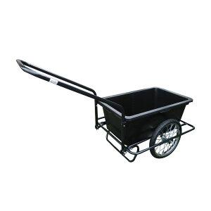 農作物 ゴミ出し 90L キャリーカート バスケット 組立式 スチール 台車 運搬 コンパクト ミニリヤカー ノーパンクタイヤ仕様 TC-2025