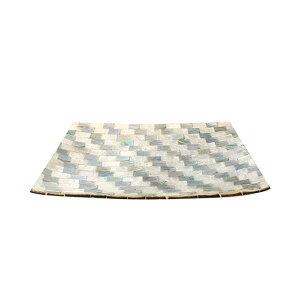 シェルトレイ レクタングル ブルーミックス 10216810016
