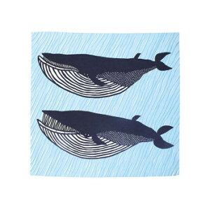 ※2020年12月下旬入荷分予約受付中 山田繊維 風呂敷(ふろしき) 100 kata kataむすびアクアドロップ ナガスクジラ ブルー 10244-302 PP袋入
