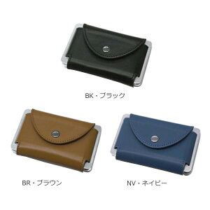 Sandy Card Case スキミング防止カードケース XM914 メンズ ビジネス 名刺入れ シンプル ギフト おしゃれ 本革 紺 牛革 レザー プレゼント