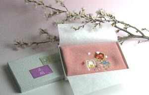 寿三郎 正絹刺繍入り風呂敷 桃色