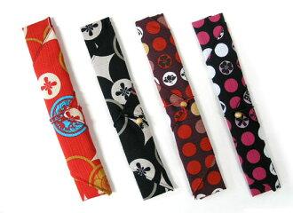 A crest and fine pattern chopsticks bag