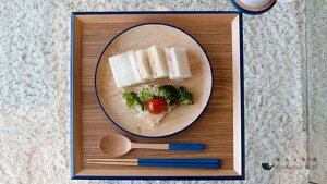 【KyutarouBLUE】箸23cm木製【青色×木製食器】