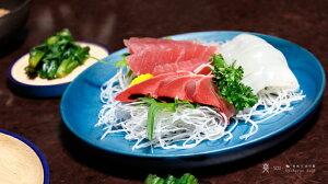 【爽】【KyutarouBLUE】両面丸皿木製【青色×木製食器】