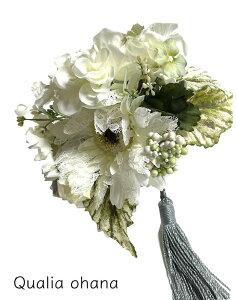 女優ブーケ レースガーベラ 大きいお花のコサージュ 白 大きめ 結婚式 パーティ 晴の日 フォーマル お花飾り ブローチ アクセサリー ブーケ 造花 ピン付き おしゃれ ドレス 帽子 バッグ イン
