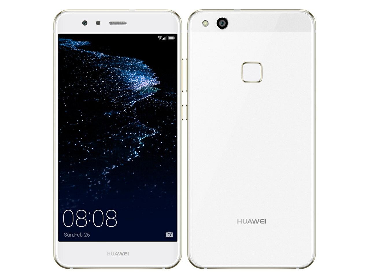 「新品 未使用品」UQmobile Huawei(ファーウェイ) P10 Lite WAS-LX2J Pearl white パールホワイト [LTE対応] [SIMフリースマホ]