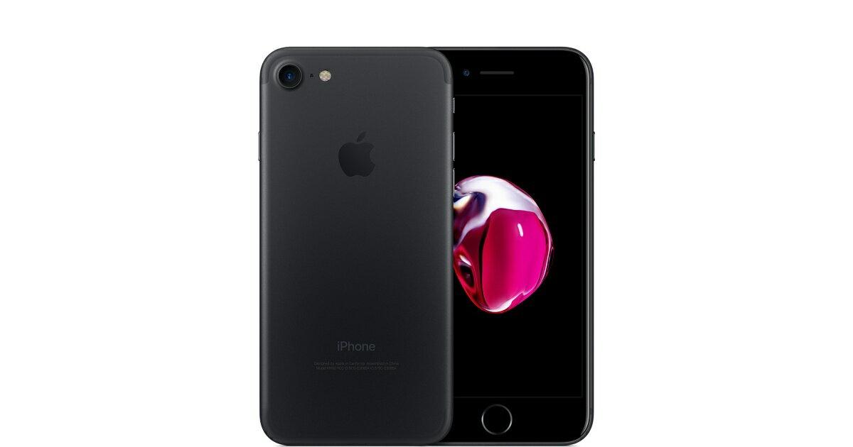 「新品 未使用品」SIMフリー iphone 7 128gb ブラック Black※赤ロム永久保証 [au SIMロック解除][Apple/アップル][アイフォン][MNCK2J/A]