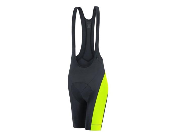 GORE Bike Wear(ゴアバイクウェア) ELEMENT ビブショーツ シートパッド付き (S, Black/Neon Yellow)