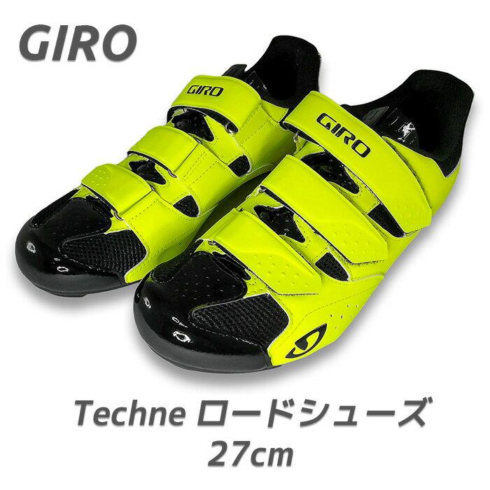 Giro ジロ Techne Road Ride Shoes ロードバイク ビンディングシューズ EU42 27cm イエロー 2つ穴 3つ穴 クリート対応 自転車
