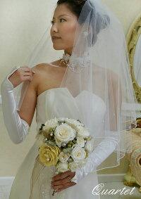 ウェディングベール【パールのショートベール】結婚式/ヴェール/ウェディング/シンプル/定番