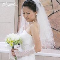 ウェディングベール【メロウパールのショートベール】結婚式/ヴェール/ウェディング